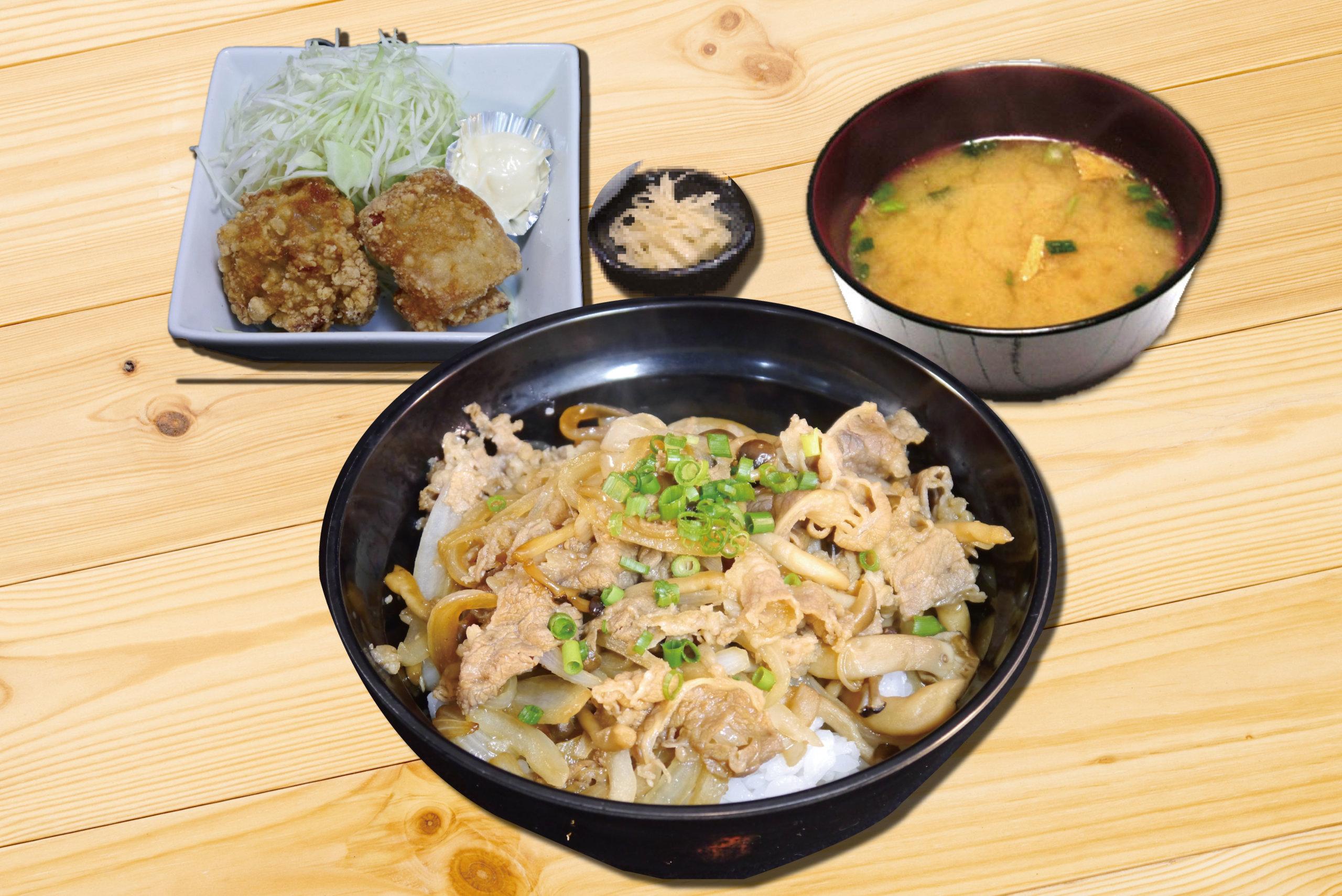 牛すき丼セット